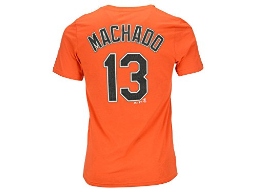 Majestic Manny Machado Baltimore Orioles Orange Youth Jersey Name Number T-shirt X-Large ()