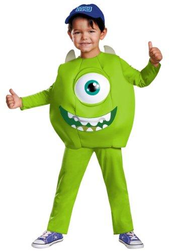 Monsters Inc Family Halloween Costumes (Disney Pixar Monsters University Mike Boys Deluxe Costume,)