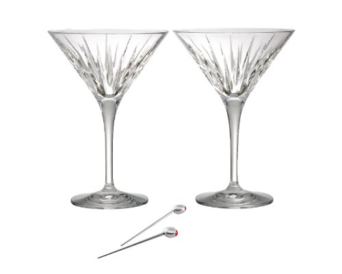 Reed & Barton Soho Martini Set of 2 with Olive Picks (Glasses Crystal Martini)