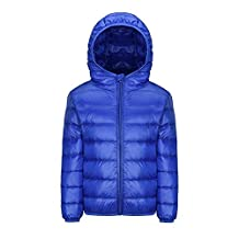 Kids Puffer Down Jacket Packable Hooded Bubble Coat for Boys Girls