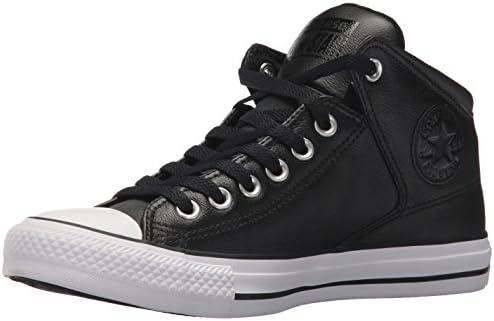 Converse Men's Street Leather High Top Sneaker, BlackWhite