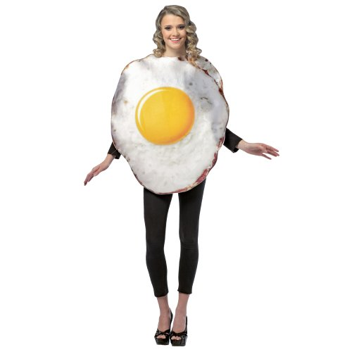 Egg Costume Women (Rasta Imposta Fried Egg Adult Cotume One-Size (Standard) White/Yellow)