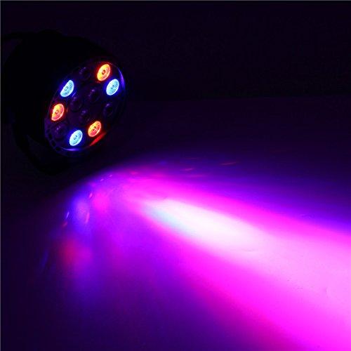 YPINGLI 12W RGB Crystal LED Ball Stage Light Voice Mode Remote Control Light for DJ Disco Halloween Party LED Lights (Color : EU Plug) by YPINGLI (Image #8)