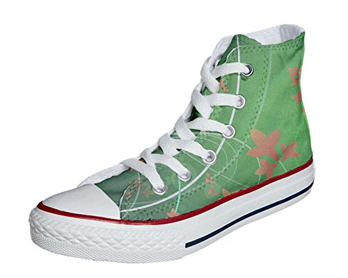 Converse All Star Customized - zapatos personalizados (Producto Artesano) Green Fantasy