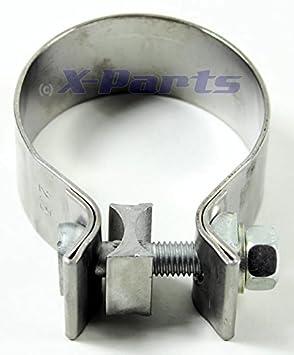2 x Auspuffschelle für Abgasanlage Bandschelle  Ø 55,5 mm