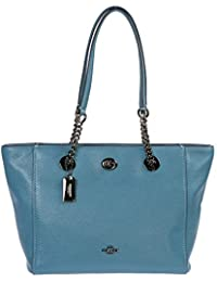 Womens Turnlock Chain Tote 27