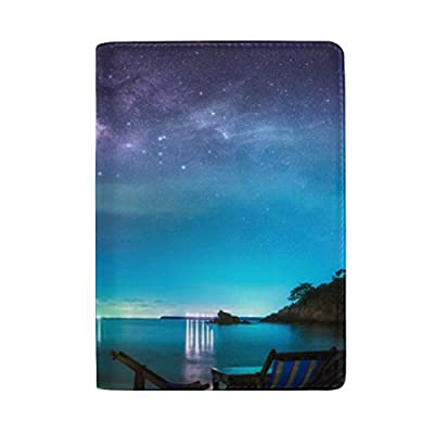4c46d6acaf52 ColourLife Panorama View Milky Way Night Sky Leather Passport Holder Cover  hot sale