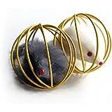 VORCOOL Topo in Gabbia Palla Giocattolo per Gatto (Colore Casuale)