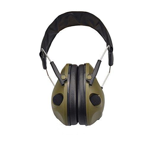 Impulse Sound Protection - XAegis Ear Muffs Noise Protection,Noise Cancelling Hunting/Shooting Sound Earmuffs NRR 20dB,Army Green