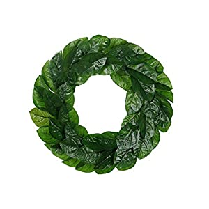 Fityle Adjustable Stems Magnolia Wreath Can be Used Indoors and Outdoors Ideal Gift 11