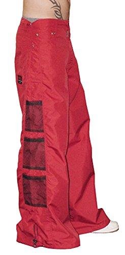 Ghast Unisex Cargo Drawstring Wideleg Mesh Pocket Rave Dance Pants, Red 32 Inch Waist (Dancing Machine Mc Hammer)