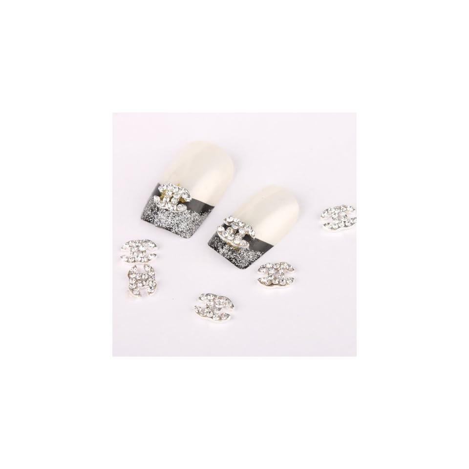 Vip Beauty Shop 3d Alloy Rhinestone Nail Art Glitter DIY Decoration 10pcs