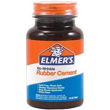 Amazon Com Elmer S Rubber Cement No Wrinkle 8 Ounces