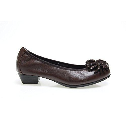 Zapatos Moka 1122 Moña Talla Salón Color Moka Mujer 36 Pitillos 11qr0xO