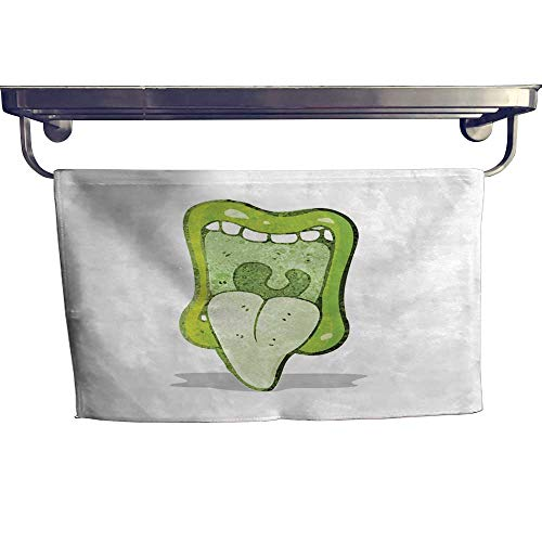 Suchashome Quick-Dry Towels Halloween Monster Mouth Towel W 12