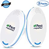 2019 Newest Pest Control Ultrasonic Repellent Electronic Repeller Indoor Plug in Pest Repellent for Bugs and Insects Mice Ant Mosquito Spider Rodent Roach, Child and Pets Safe Control (2 Packs)