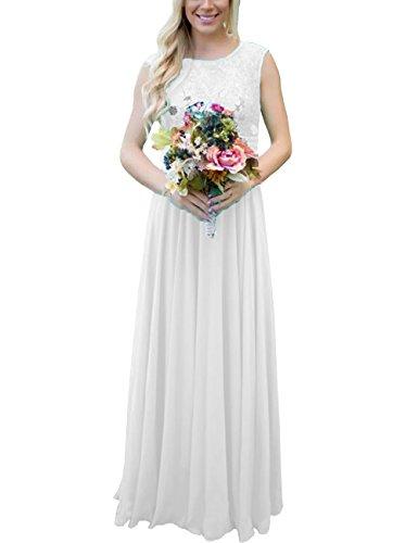 Les Paillettes De Dentelle Robe De Demoiselle D'honneur Longue Des Femmes Dys Ramassent Robe Formelle Soir V Dos Blanc