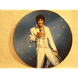 "Elvis Presley ""King of Las Vegas"" Collectible Plate by Delphi 1991 Second Issue Limited Edition ""Be Mine Tonight"""