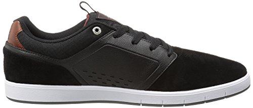 Dc Mens Chaussure Pro Skate Cole Noir / Rouge / Blanc