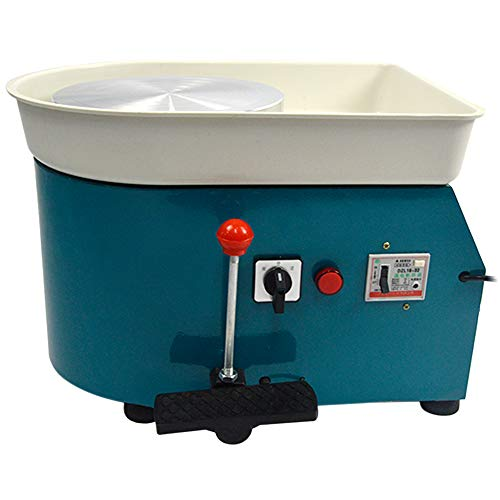 (FLBETYY Pottery Wheel Forming Machine 25CM Electric Pottery Wheel DIY Machine for Ceramic Work Clay Art Craft 110V 350W (Blue))