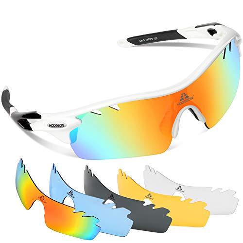 (HODGSON Polarized Sports Sunglasses for Men Women with 5 Interchangeable Lenses)