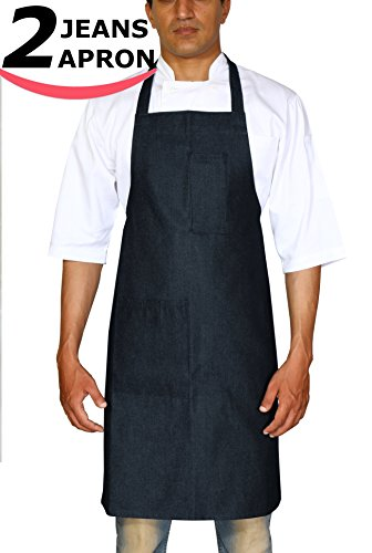 Utopia Wear Denim Kitchen Jeans Aprons, Profe...
