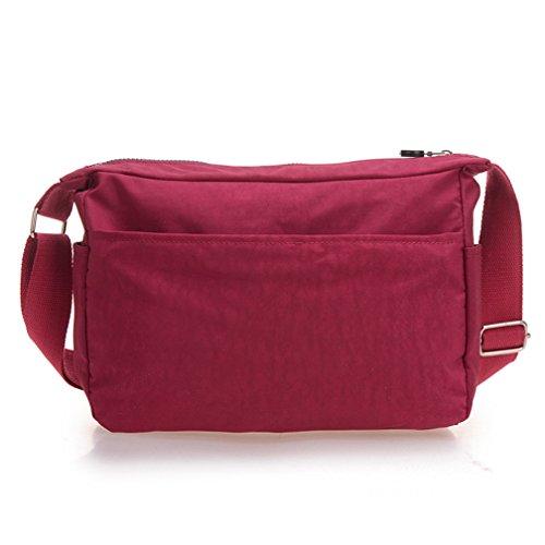 Girls Nylon Shoulder Purses Pockets Cross TianHengYi Multi S1 Maroon Casual Lightweight amp; Handbags Small body Bag fdvOSqaAO