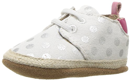 Robeez Girls Slip-On, Cool and Casual Cream Dot, 12-18 Months M US ()