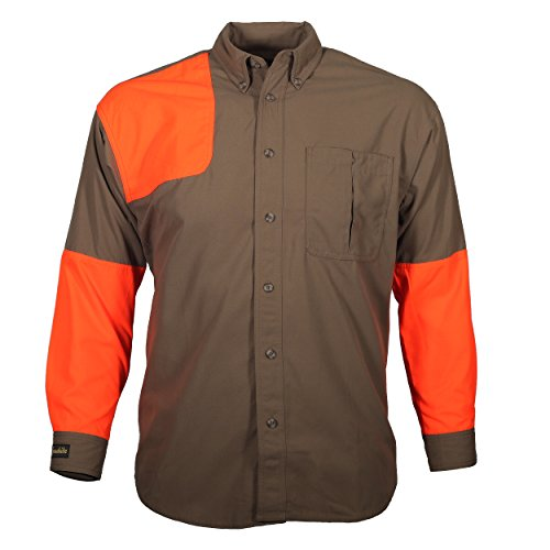 Gamehide Upland Field Hunting Shooting Shirt (Tan/Orange, XXXX-Large)