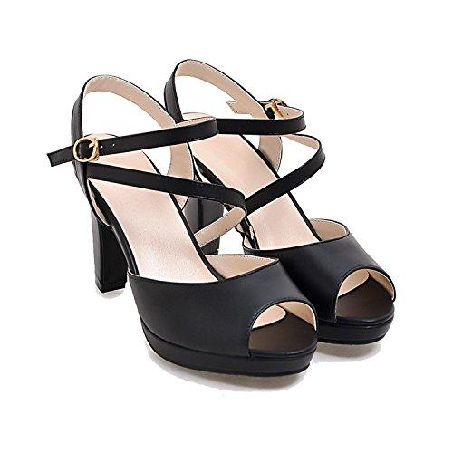 2018 Women Sandals Sexy Sandal Women Fashion Cross-Tied Sexy Peep Toe Ladies Summer Sandal,Black,6.5