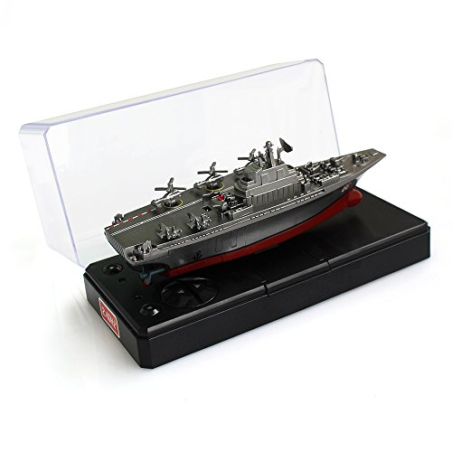 y Remote Control Aircraft Carrier Model RC Boat Ship Speedboat Yacht Electric Water Toy - Silver (Antenna Not Needed) (Ship Model Boat)