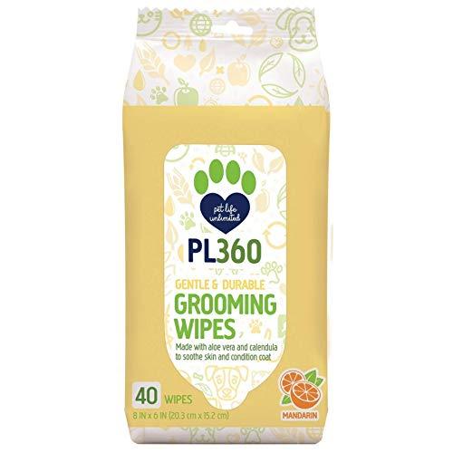 PL360 Grooming Wipes 40/Pack (4 Pack)
