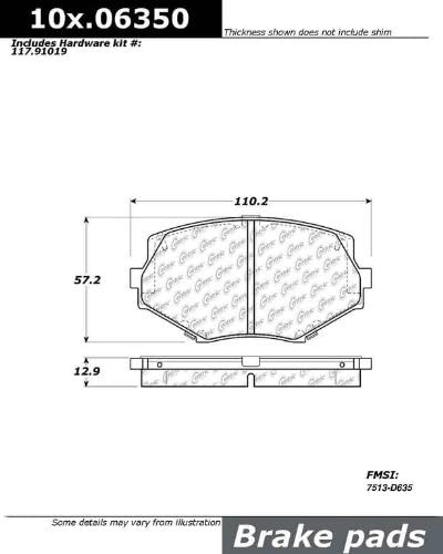 Ceramic StopTech 103.06350 Brake Pad
