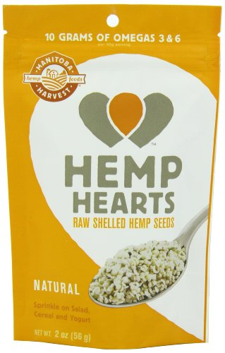 Manitoba Harvest Hemp Seed Nut - Manitoba Harvest Hemp Hearts Raw Shelled Hemp Seeds, 2 Ounce (Pack of 12)