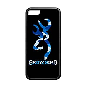Browning Deer Camo for iPhone 5c Case Cover 016637 Rubber Sides Shockproof Protection with Laser Technology Printing Matte Result