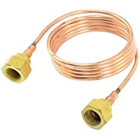uxcell Air Conditioner Capillary Tube Pipe w Nuts 1/8PT Female Thread