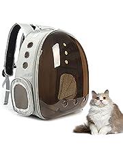 Keephic Katt ryggsäck bärväska bubbelväska, liten hund ryggsäck för små hundar, rymdkapsel husdjursbärare hund vandring ryggsäck flygbolag godkänd resebärare