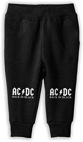 ACDC Logo ロングパンツ スウェットパンツ ユニセックス 子供 普段着 スクール 気軽 吸汗速乾 伸縮性 通気 耐久性 春秋 肌触り 柔らかい 下着 入学式