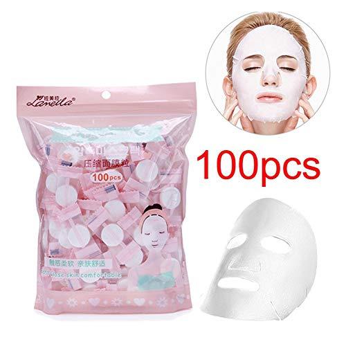 Hennta 100 UNIDS Desechable Mascarilla Comprimida Mujeres Belleza Máscara Papel Cuidado de la Piel Natural Cuidado de la...