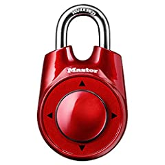 The Master Lock 1500iD Speed Dial Directional Set Your Own Combination Padlock features a 2-1/8in (54mm) wide metal body for durability. The 1/4in (6mm) diameter shackle is 1in (25mm) long and made of hardened steel, offering extra resistance...