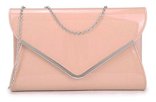 Light De Silver Pink Trim Cartera Mediano Para Mujer Mano Hautefordiva XBwx5qSPR6