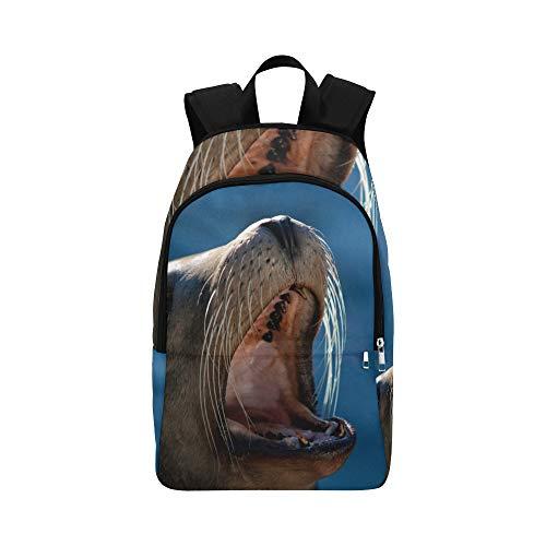 Backpack Shoulder Bag Posters for Seal Diving for Men Women Students Bookbag Laptop Backpack Comfort High School Traveling for Climber
