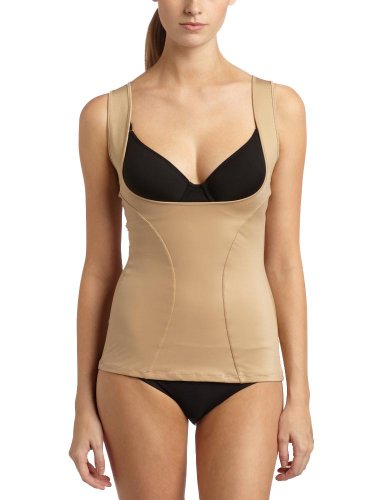 Maidenform Flexees Women's Shapewear Wear Your Own Bra Torsette, Body Beige, X-Large (Microfiber Shaper)