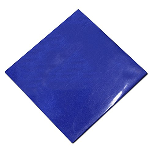 3.9x3.9 inch Colored Silver Wrapping Paper for Gift Wedding Party Present Tin Foil Square Sweets Candy Chocolate Packaging Paper Multipurpose Foil Wrapper Paper (6500 PCS, blue) by PABCK