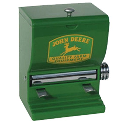 John Deere Toothpick Dispenser - Sturdy Plastic With Polished Chrome - John Metal Deer Tractor
