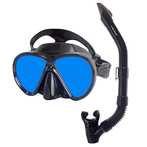 (Head Cobalt Ice Mirrored Lens Mask and Snorkel Combo)