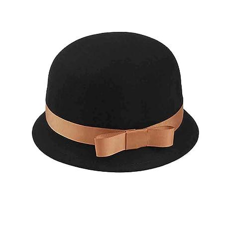 e1f4e91793602 Sunny Sombrero De Fieltro Redondo para Mujer Cloche Redondo Sombreros  Sombreros