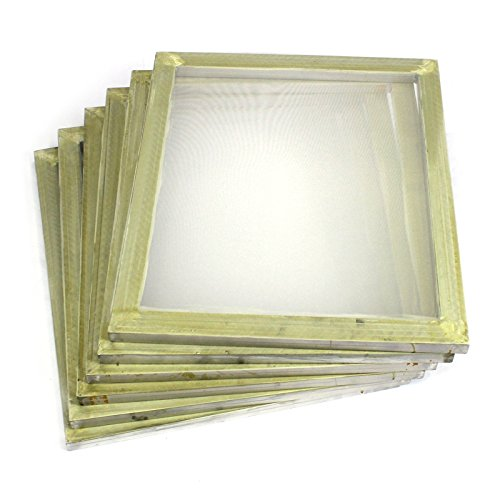 Commercial Bargains 6 Pack Aluminum Silk Screen Printing Press Screens 110 White Mesh 20' x 24'