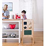 how to build a kitchen island Guidecraft Classic Kitchen Helper Stool - Natural: Adjustable Height, Folding Step Stool for Little Kids, Toddler Safety Cooking Tower with Write-on Wipe-Off Message Boards. Learning Furniture
