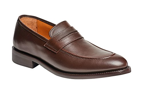 Carlos by Carlos Santana Men's Navarro Penny Loafer In Goodyear Welted Construction (10 D, Brown) by Carlos by Carlos Santana